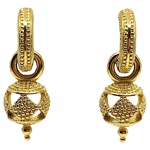 Trifari Goldtone Dangle Earrings