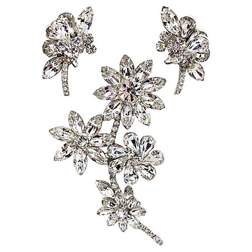Marquis Brooch & Earrings Set