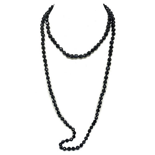 1920s French Jet Necklace