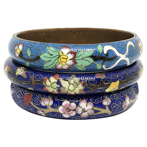 Chinese Cloisonné Bangles, S/3