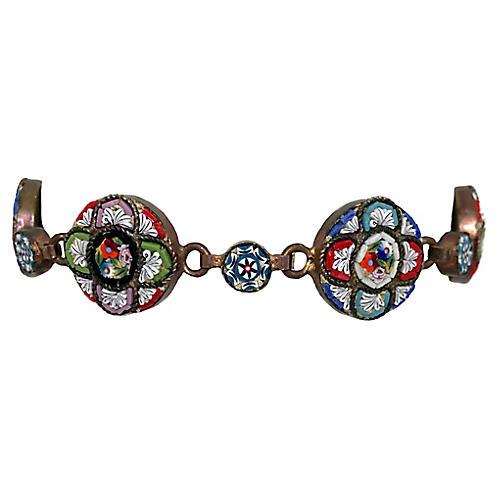 Italian Micro-Mosaic Link Bracelet