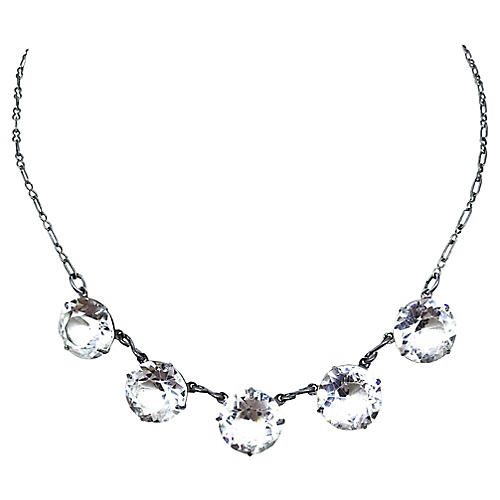 1920s Faceted Crystal Necklace