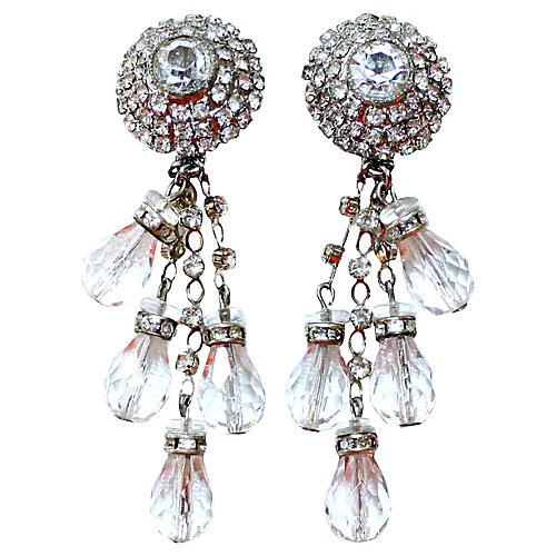 De Lillo Crystal Chandelier Earrings