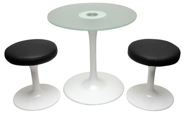 1950s Table & 2 Stools