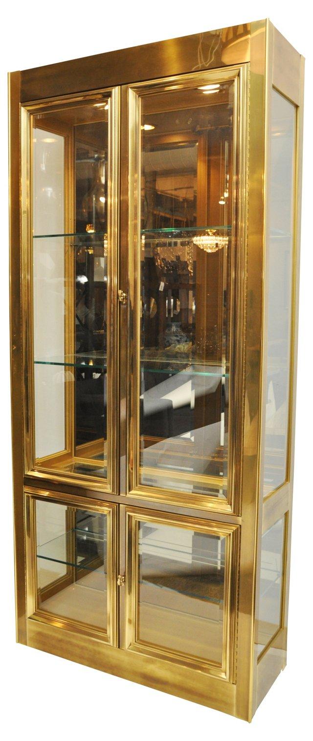 Drexel Brass Cabinet