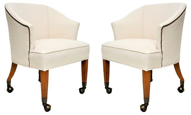 Midcentury Club Chairs,  Pair