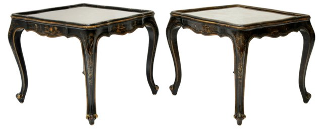 Chinoiserie  Tables,  Pair