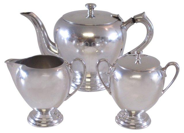 Sterling Silver Tea Service, 3 Pcs