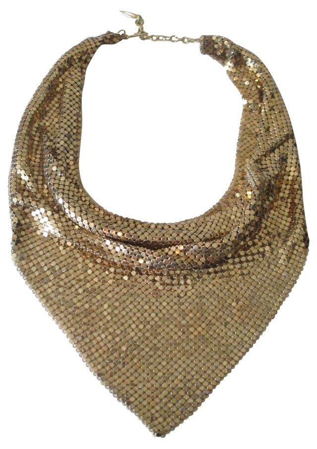 Whiting & Davis Scarf Necklace