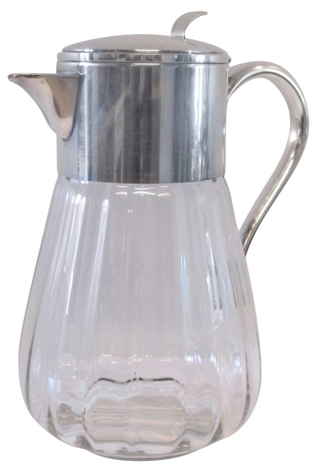 Silver & Glass Pitcher