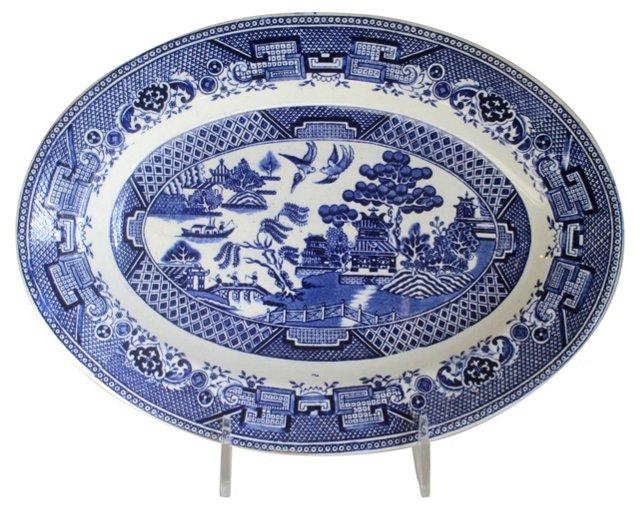 Dutch Blue Willow Serving Platter