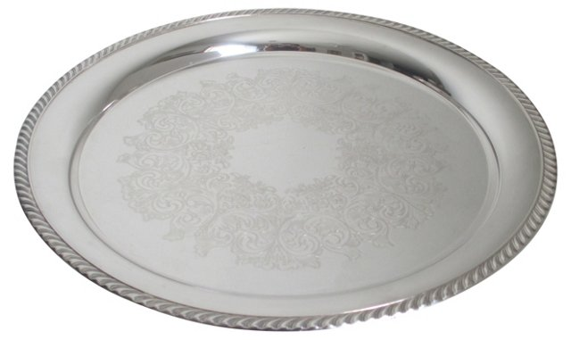 Silverplate Cocktail Tray