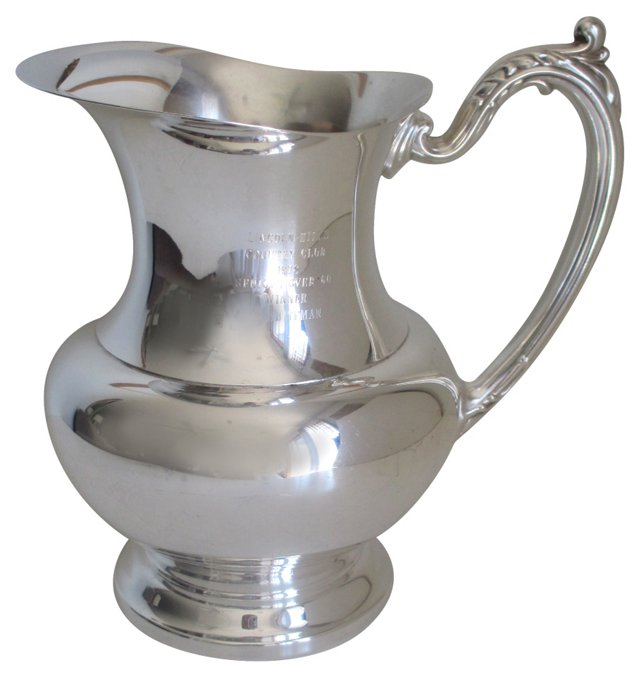 Silver Country Club Trophy Pitcher