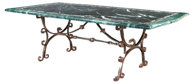 PENDFrench Marble-Top Dining Table