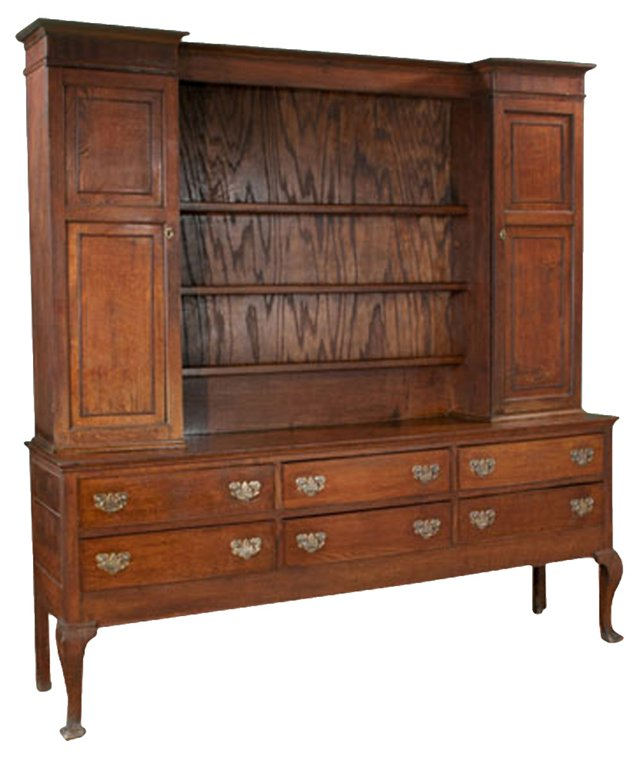 Welsh Queen Anne-Style Oak  Dresser