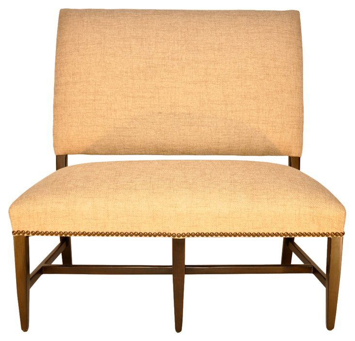 Textured Upholstered Settee