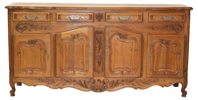 19th-C. French Oak   Buffet