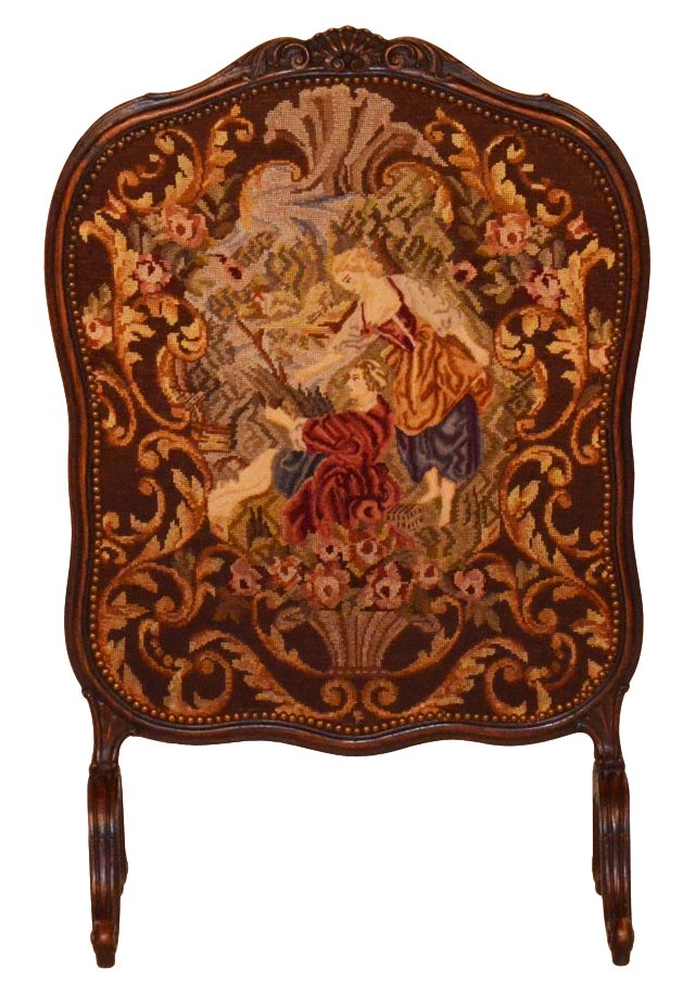 Antique Louis XV-Style  Fire Screen