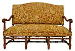 English Lancashire Walnut Settee