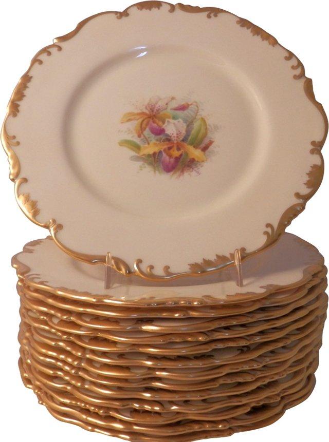 Lenox  Orchid Plates, Set of 12