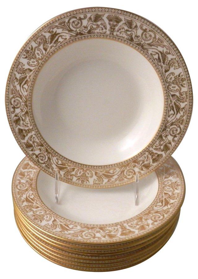 Wedgwood Rim Soup Bowls, S/8