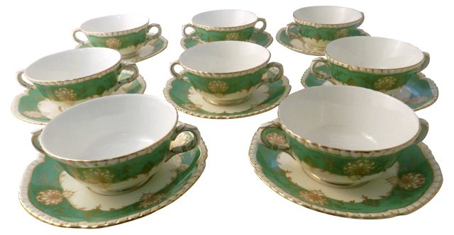 Royal Worcester Soup Bowls, Svc for 8