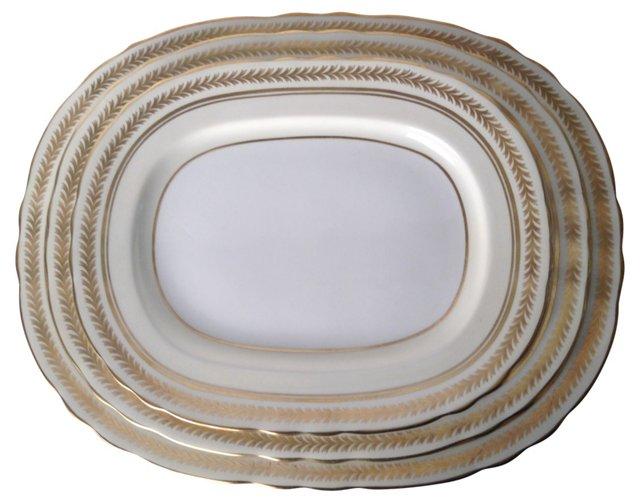 English Gilt Platters, Set of 3