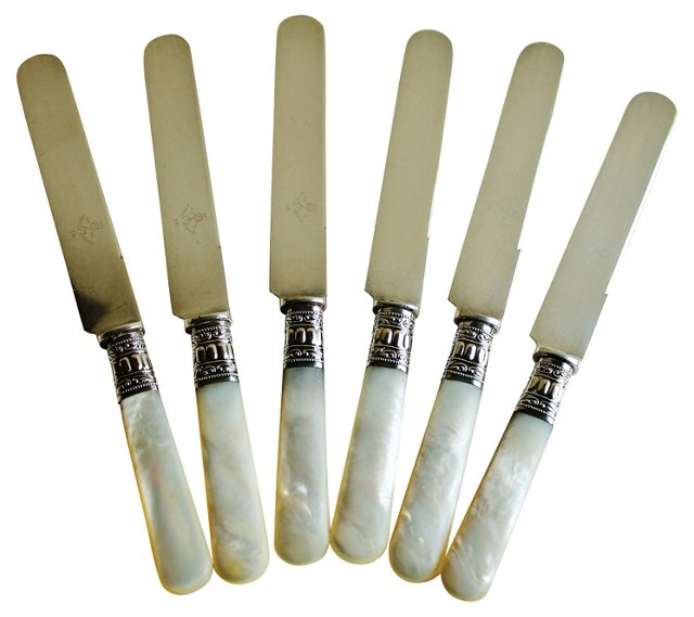 Mother-of-Pearl Knives, Set of 6