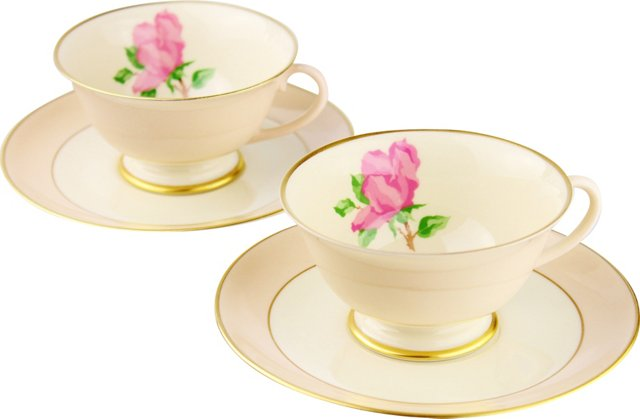 Franciscan Cups & Saucers,  Pair