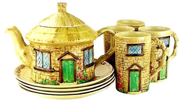 Staffordshire Croft Tea Set, 9 Pcs