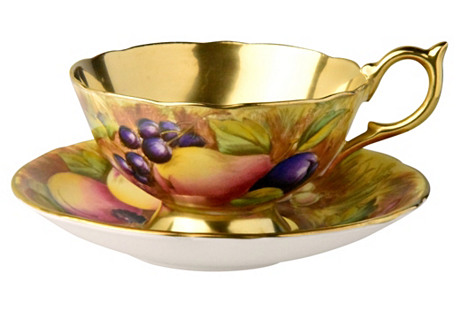 Ansley Gilded Cup & Saucer