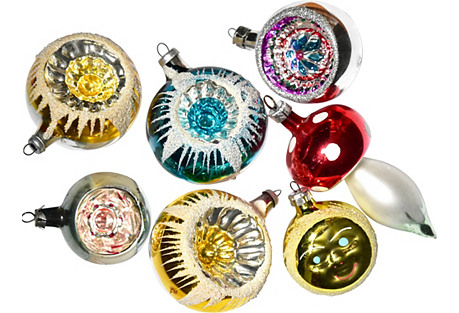 Assorted Fancy Ornaments, S/7