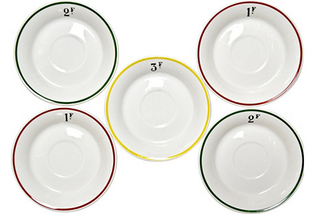 Authenic French Bistro Plates, S/5