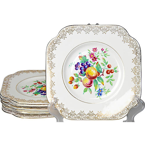 English Fruit Plates, S/7