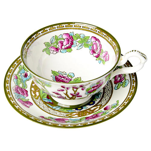 English Chinoiserie Cup & Saucer
