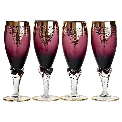 Handblown Liqueur Glasses, S/4