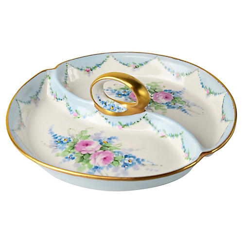 Hand-Painted Porcelain Tray