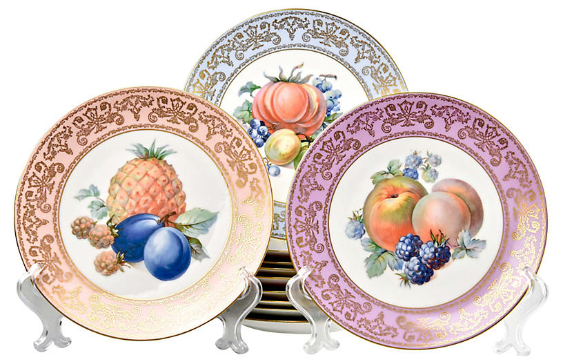 Continental Fruit Plates, S/11