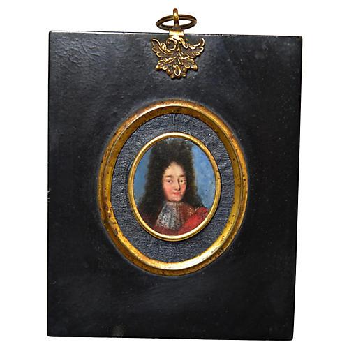 Antique Miniature Portrait