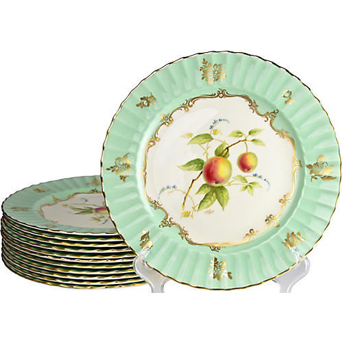 Royal Worcester Dinner Plates, S/12