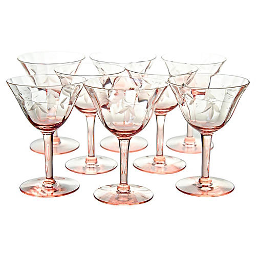 Cut Glass Coupes, S/8