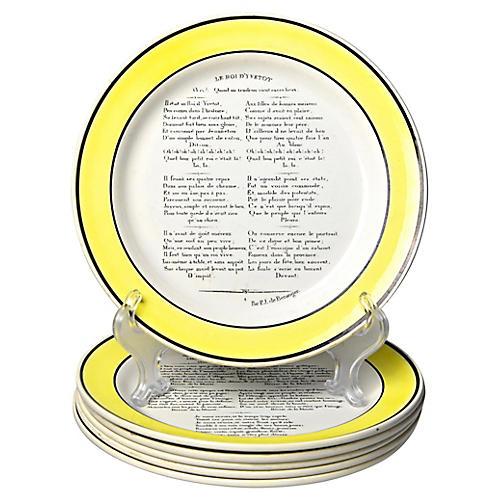 C.1830 Choisy Le Roi Plates, S/6