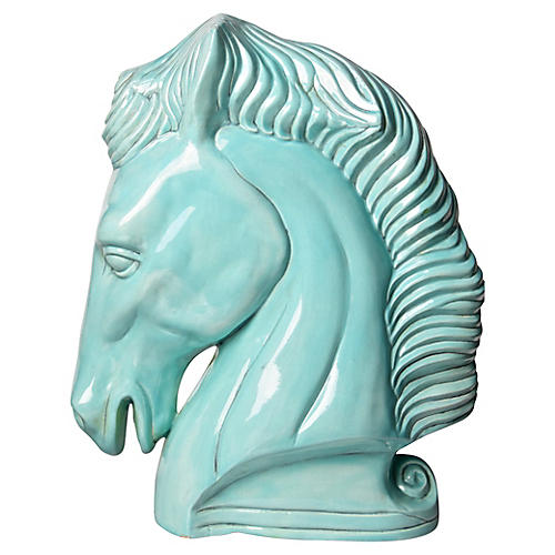 Large Ceramic Horse Statue