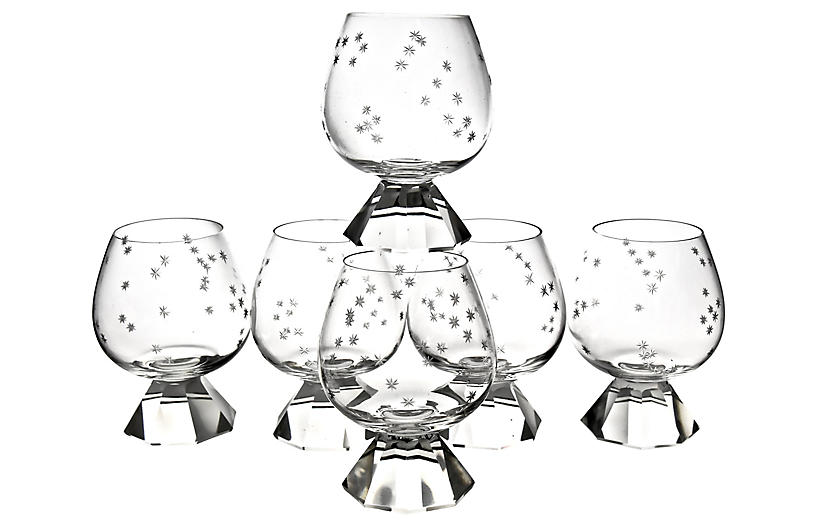 Constellation Crystal Glasses, S/6