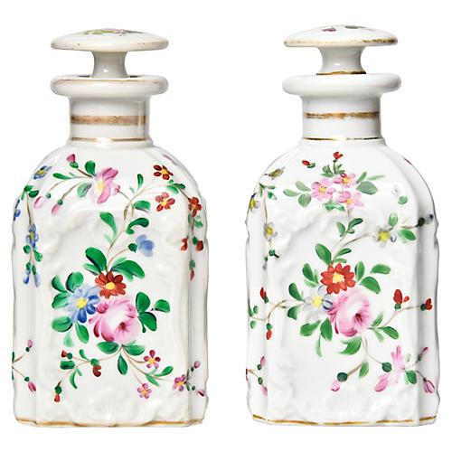 19th-C. Vanity Bottles, Pair
