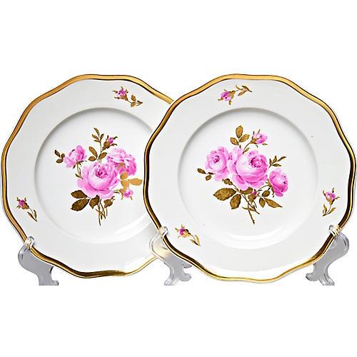 Antique Meissen Plates, Pair