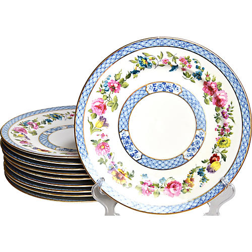 Antique Dinner Plates, S/10