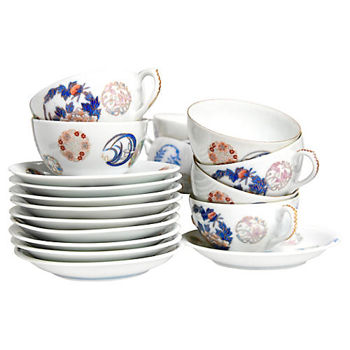 Japanese Cups & Saucers, S/10