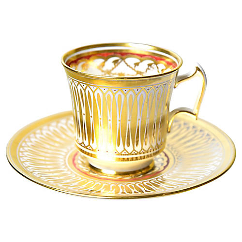 Gilded Cup & Saucer