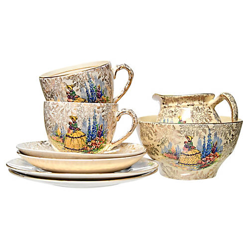 Decorative Gilded Tea Set, 8Pcs